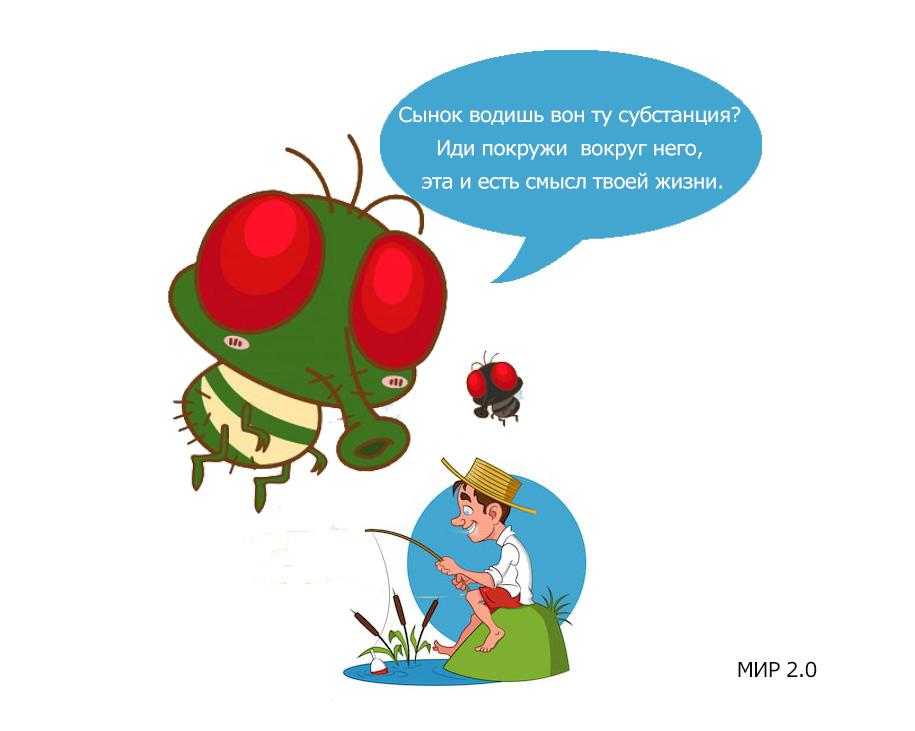 смысл жизни мухи, прикол